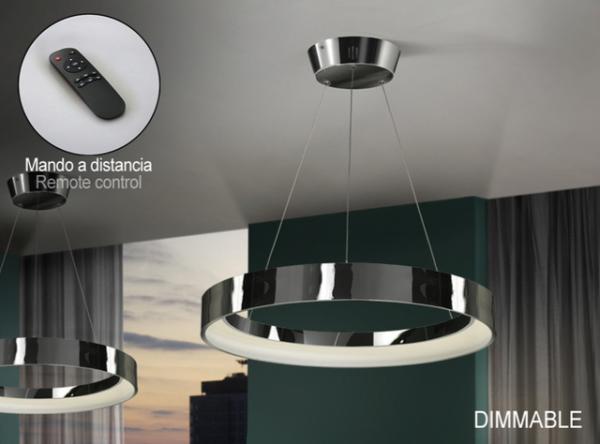 Imagen 1 de Cronos Lámpara colgante LED 38W ø60x7cm - Cromo