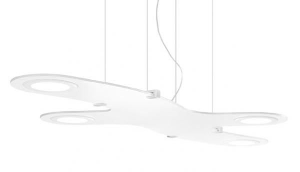 Imagen 1 de Plasma Colgante Aspa 4xPanel LED blanco