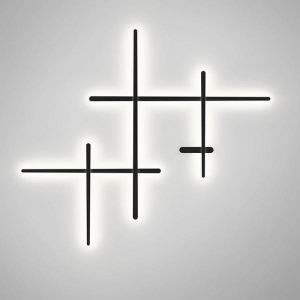 Imagen 1 de Sparks Aplique Grande LED 58,5w regulable dali - gris grafito