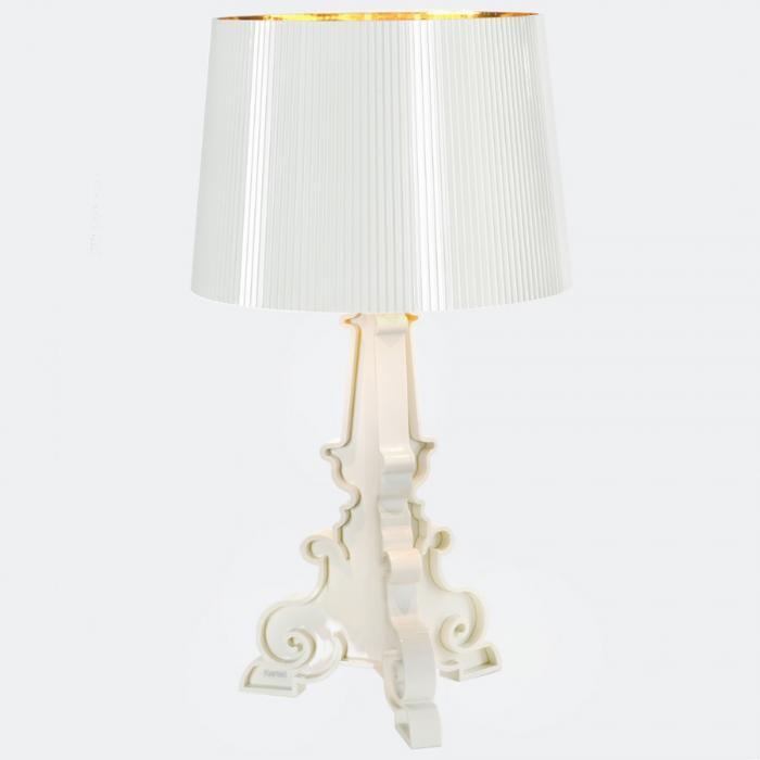 Kartell Bourgie Lampada da tavolo bianco/d´Oro 9076 - Lámparas de diseño