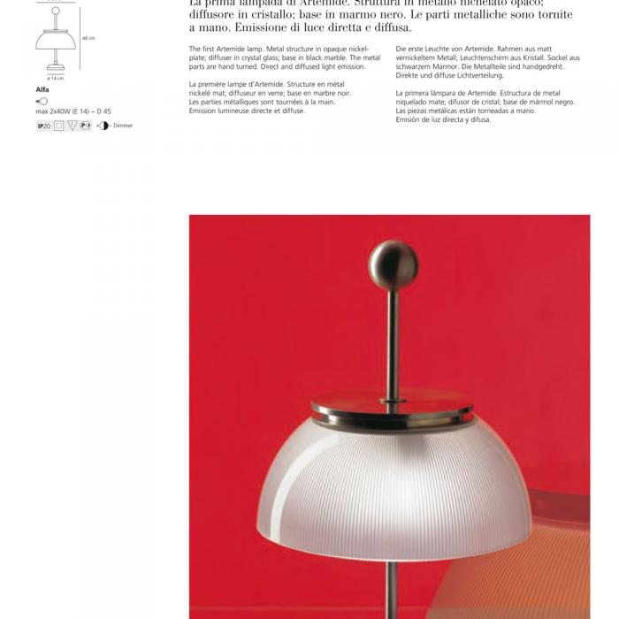 E14 marmolestructura Alfa Sobremesa Base metal NiqueladoDifusor Cristal 1TlFJKc3