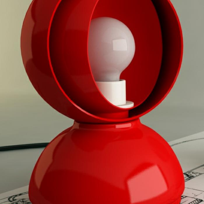 Imagen 1 de Eclisse Table/Wall lamp 1x18w E14 (HL) Red