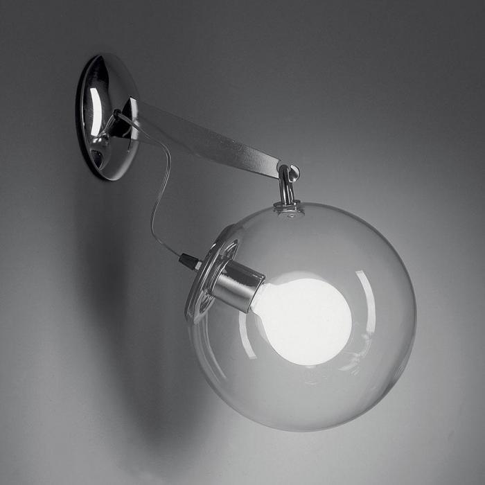 Artemide miconos aplique 20w difusor cristal a020100 l mparas de dise o - Lampade parete artemide ...