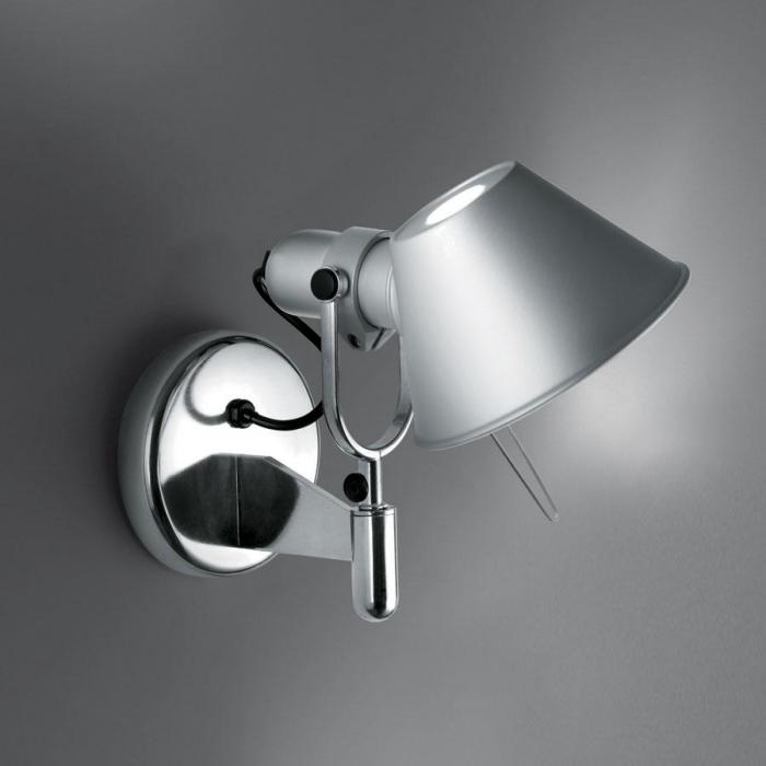 Imagen 1 de Tolomeo Faretto Applique halógena 1x77w E27 sans commutateur on/off - Aluminium