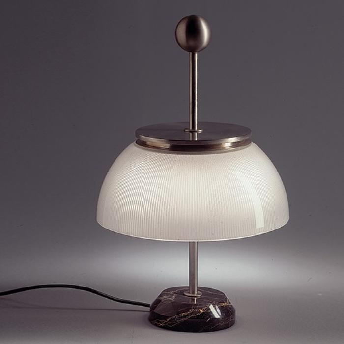 Imagen 1 de Alfa Lampe de bureau base marmol/estructura métal Nickel/Diffuseur Verre E14