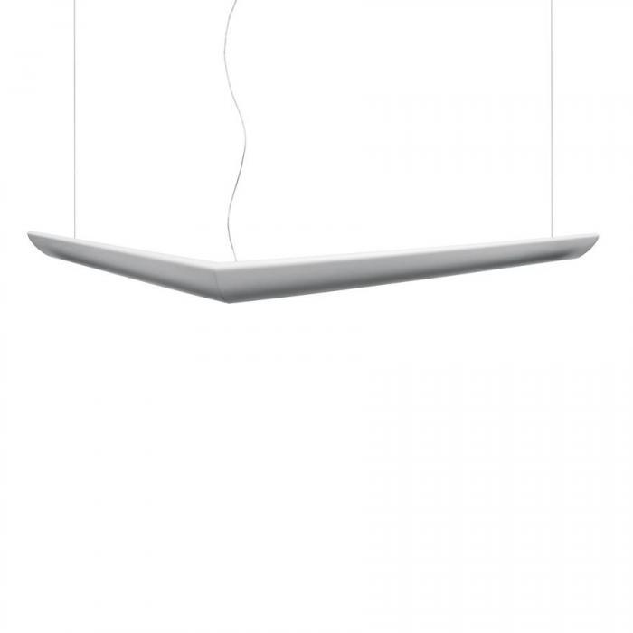 Imagen 1 de Mouette Luminaria Colgante Asimétrica T16 G5 2x24w + 2x54w no regulable blanco opal