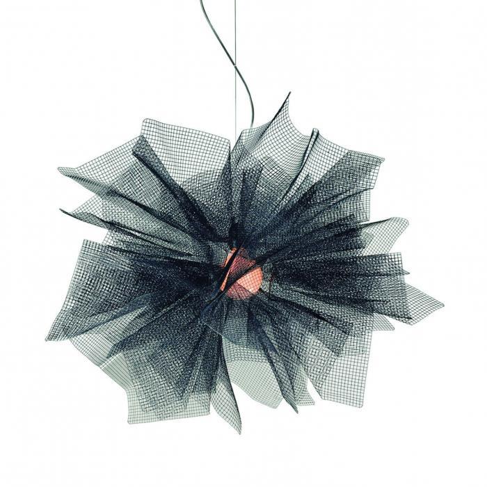 Imagen 1 de Fluo Lámpara colgante E27 100W ø80x150cm Acero pintado galvanizado