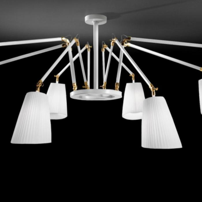 Imagen 1 de Cornelia - 02 (Solo Structure) Lamp Pendant Lamp without lampshades E27 8x46w white - Latón Pulido