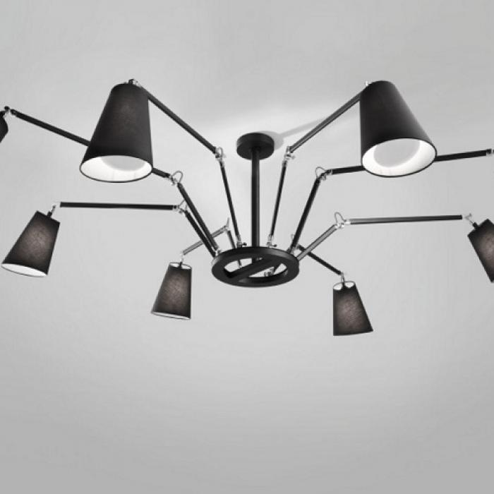 Imagen 1 de Cornelia - 02 (Solo Structure) Lamp Pendant Lamp without lampshades E27 8x46w Black - Chrome