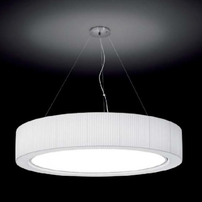Imagen 1 de Urban - 120 Lamp Pendant Lamp Outdoor 2G11 36w dimmable Sistema Dali/Chrome-Cinta translucent Cream
