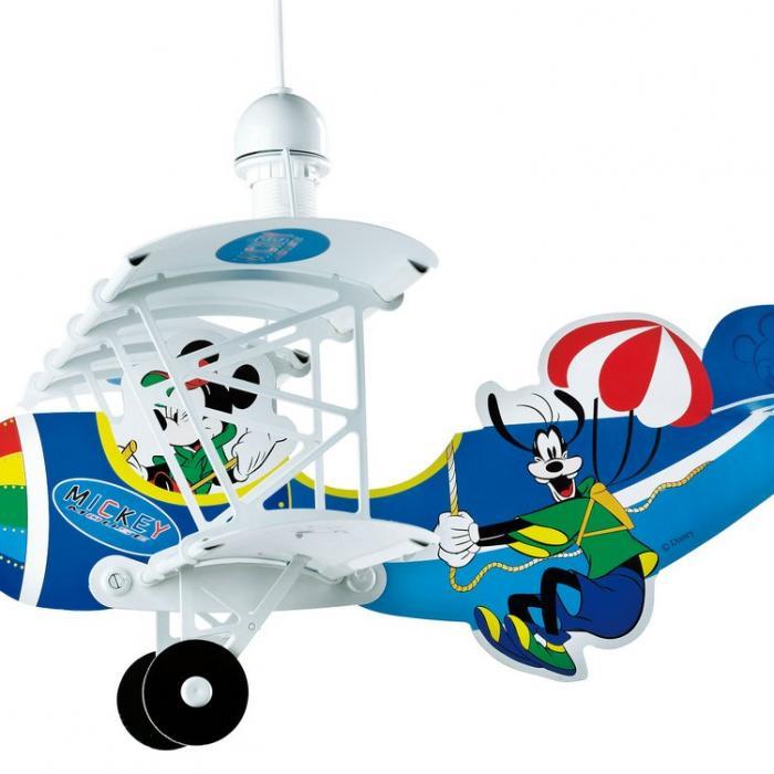 Infantil Mickey Colgante Dalber 54712 Avión Lámpara EHDIW29