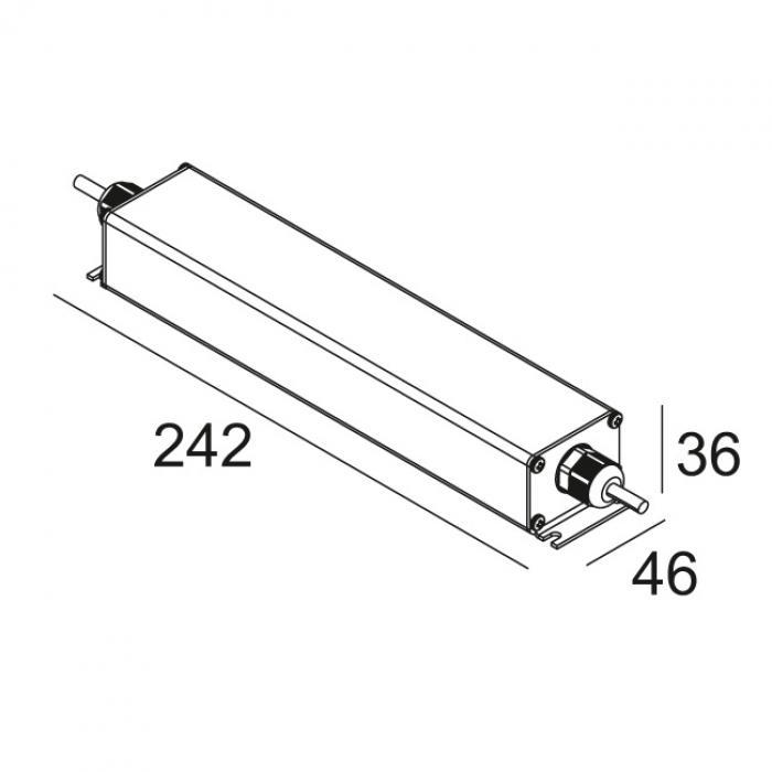 delta light led power supply 24v dc    40w 300
