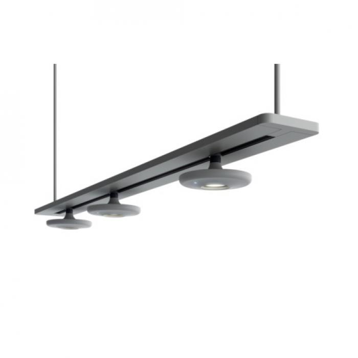 Imagen 1 de Button lamp Pendant Lamp linear (3 Luces) Black
