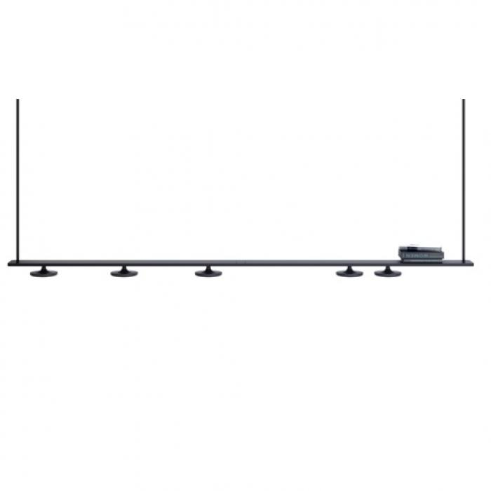 Imagen 1 de Button lamp Pendant Lamp linear (4 Luces) Black
