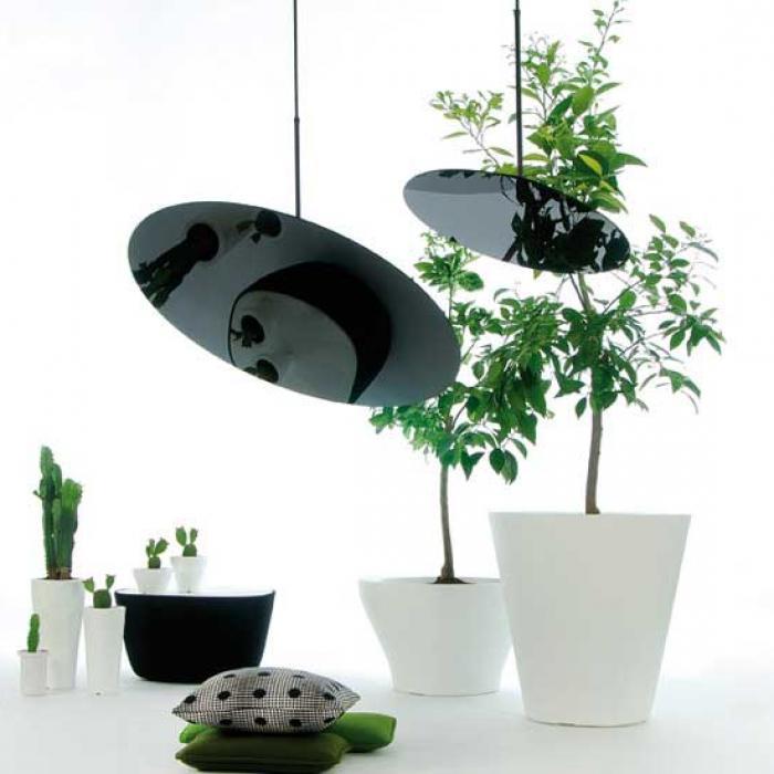 Imagen 1 de Hanging Hoop 80 Suspension circulaire T5 1x40W noir avec floron Noir