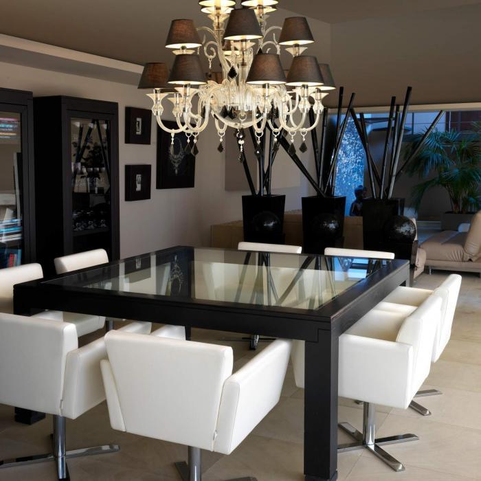 Imagen 1 de Murano Pendant Lamp 100cm E14 16x9w Black