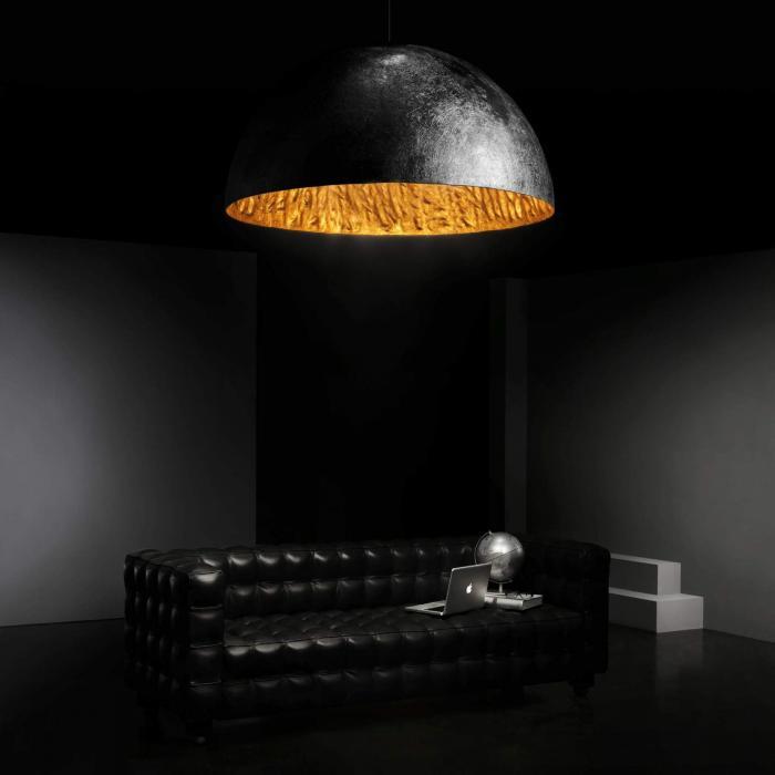 Imagen 1 de Magma large Pendant Lamp Black + Golden ø120cm 5L E27 40w