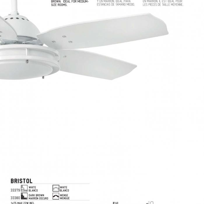 Faro Bristol Ventilador 5 aspas ø106cm T5 33380 Lámparas