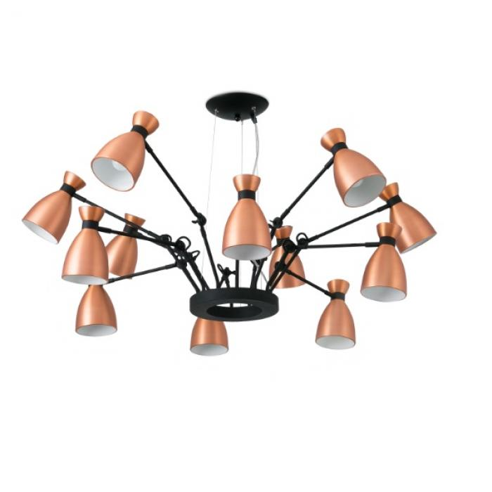 Imagen 1 de Retro Pendant Lamp Copper 12L E14 MAX 20W