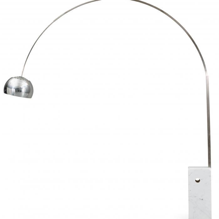 Imagen 1 de Arco lámpara de Pie LED multichip 28w con regulador Cromo/Marmol