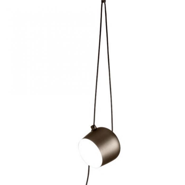 Marrón Small Lampe Bouchon Suspension Anodisé Más Aim Câble R3qL54Aj