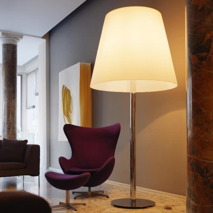Imagen 1 de Amax lámpara of Floor Lamp ø109x240cm 3x33w E27 (FL) Chrome white