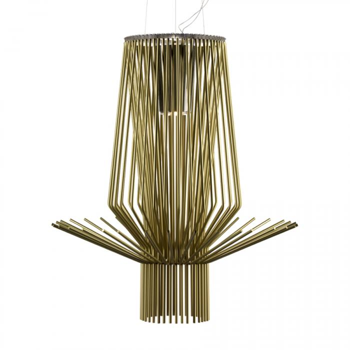 Imagen 1 de Allegretto Assai Pendant Lamp ø76cm cable of 5 meters Gold