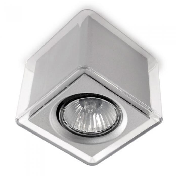 Imagen 1 de LedBox Plafón Cuadrado policarbonato Transparente GU10 - Transparente/gris