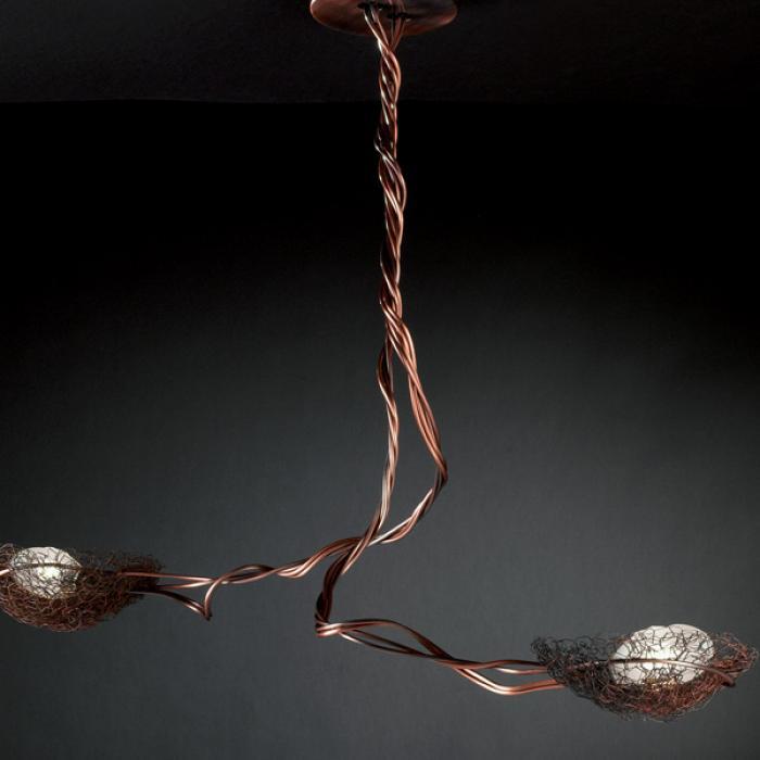 Imagen 1 de Nido Lamp PAR./ceiling lamp 2 lights Copper BRONZ.