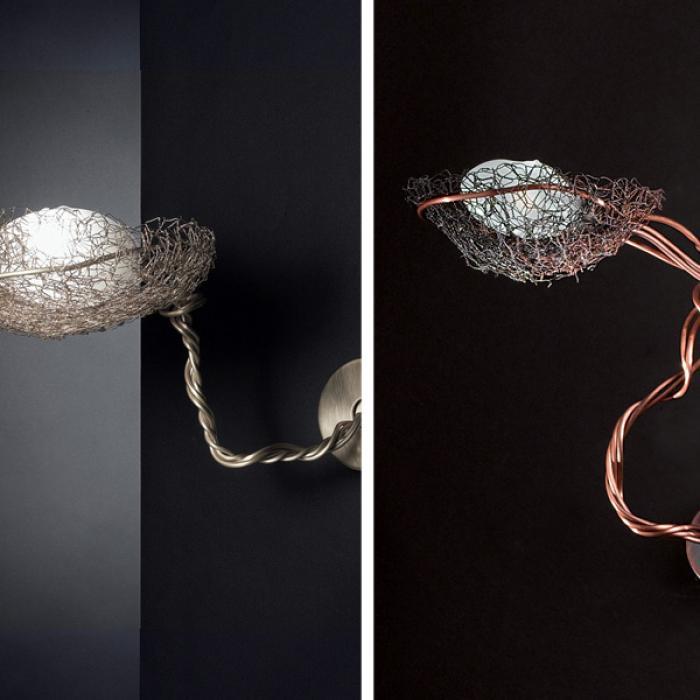 Imagen 1 de Nido Wall Lamp Small 1 light Bronze