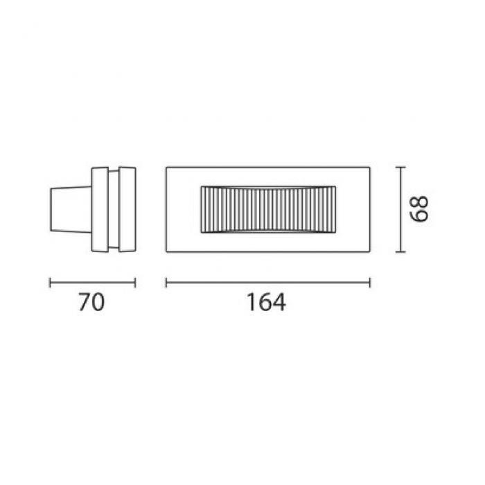 Iguzzini 3.BB01.715.0 | Glim Cube Wandleuchte mit