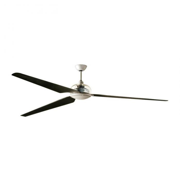 Imagen 1 de 3 Metri Fan 300cm without light 3 blades fibra of carbono with remote - Grey/Grey