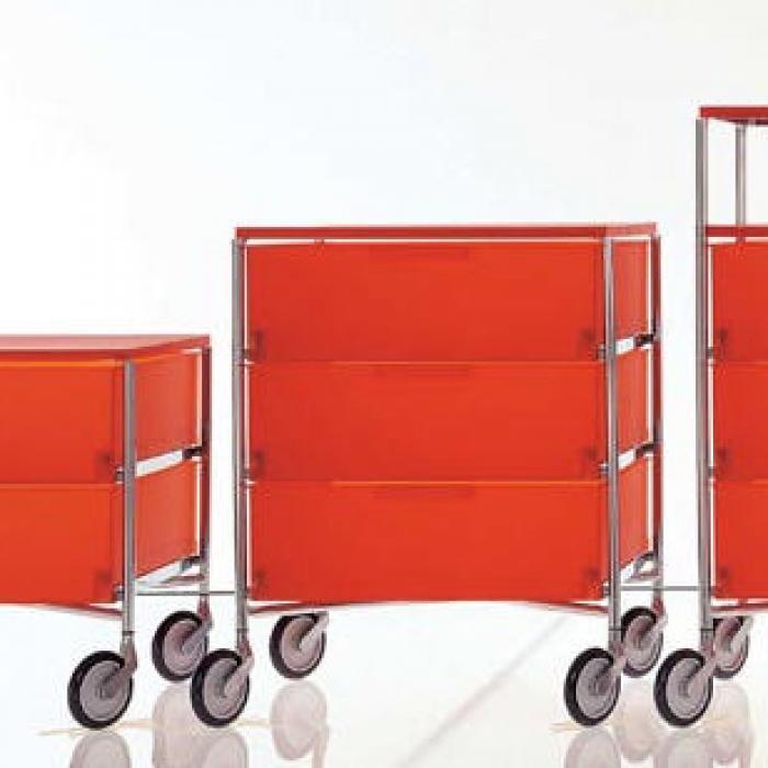 Kartell Mobil Container Mit Räder 5 Schubladen 2034 Lámparas De