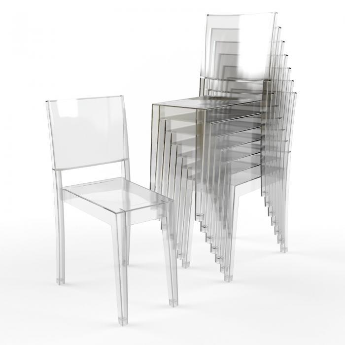 Kartell La Marie stuhl Transparent (4 einheiten 4851 ...