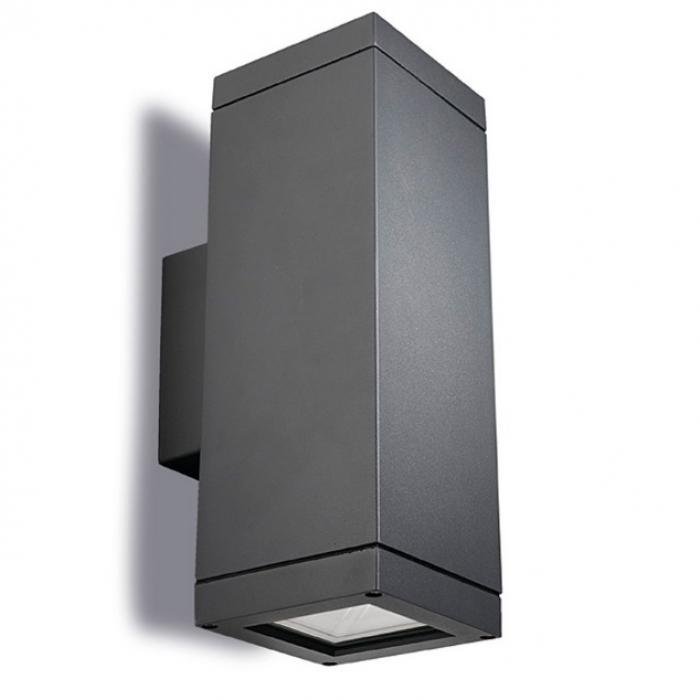 Imagen 1 de Afrodita Aplique Exterior 31x11x11cm 2xE27/PAR-30 MAX 75W gris Urbano
