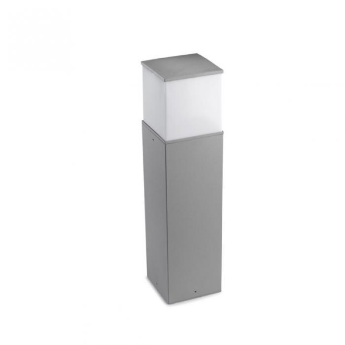 Imagen 1 de Cubik Baliza 15x15x60cm PL E27 60W gris