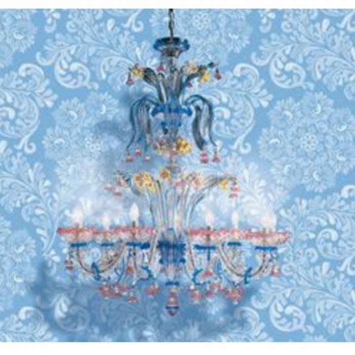Imagen 1 de 707 L6 lamp Pendant Lamp Glass Aguamarinaina Rub/Chrome