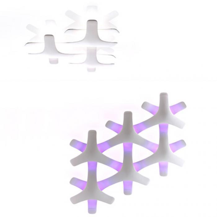 Imagen 1 de Synapse Lamp Pendant Lamp 24 Elements 24 LED 1W RGB white