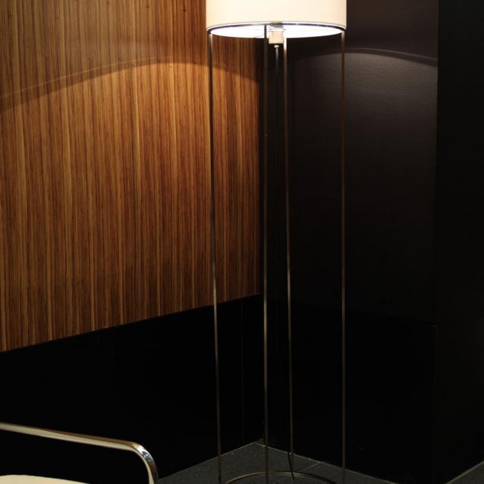 Imagen 1 de 2098 F40 lámpara of Floor Lamp Nickel lampshade Damasco