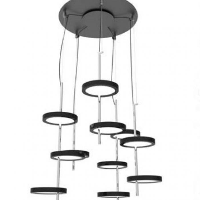 Imagen 1 de Nenufar Pre Set 5A Lampe Suspension Noir pour Dali
