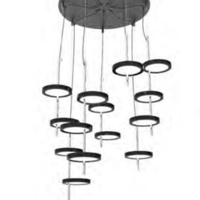 Imagen 1 de Nenufar Pre Set 7B Lamp Pendant Lamp Black for Dali