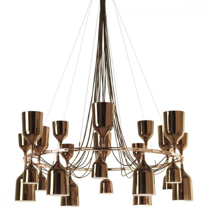 Imagen 1 de Copacabana Queen 6.3 Pendant Lamp E27 18x18w porcelain Gold