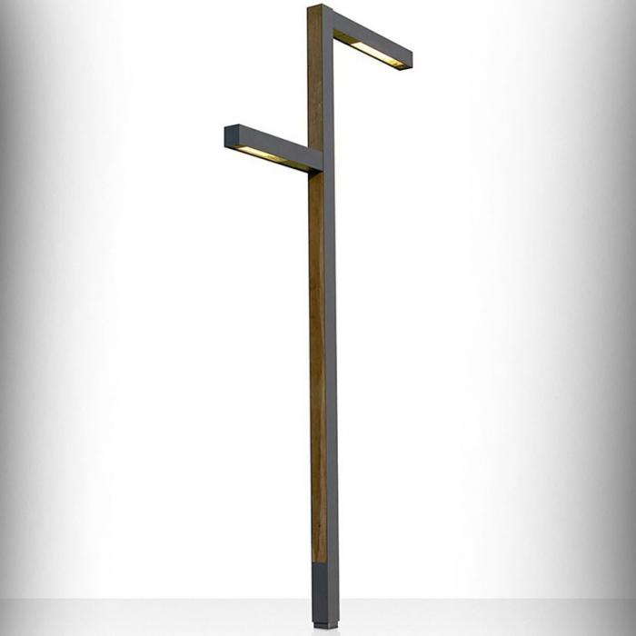 Imagen 1 de Zenete 400 3 Streetlight 33,6W + LED 2x33,6W - metal and Wood