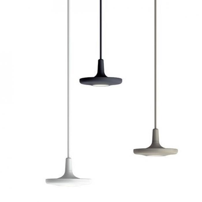 Imagen 1 de Button Lámpara Colgante Individual LED 10W Blanco satinado