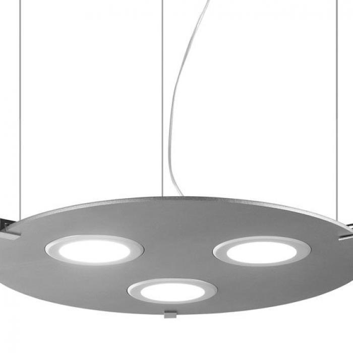 Imagen 1 de Plasma Pendant Lamp Round 3xPanel LED white