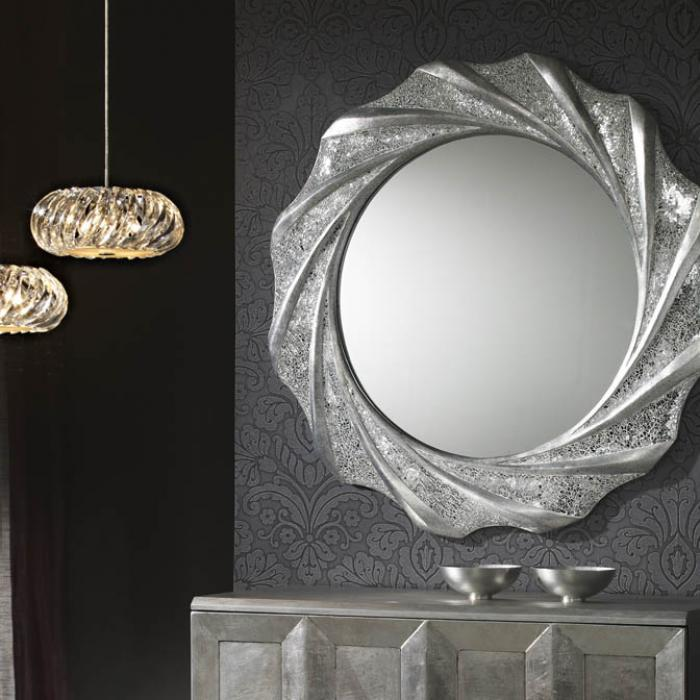 Schuller Gaudi specchio Rotonda 97x97cm Foglia 131217 - Lámparas de ...