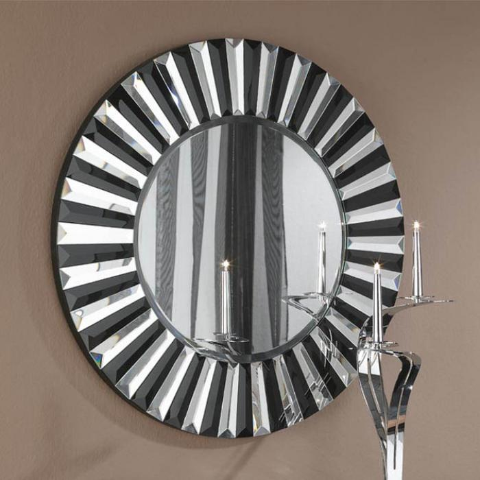 Imagen 1 de Alberta espejo Redondo ø80 Cristal negro biselado