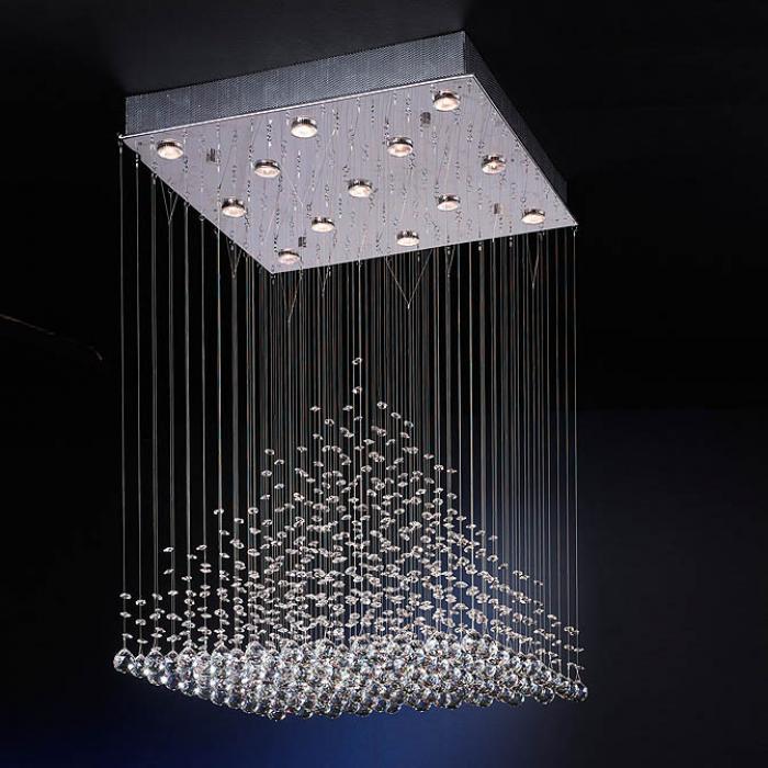 Imagen 1 de Estratos Lámpara Colgante Grande 13L Cromo brillo/Cristal Asfour