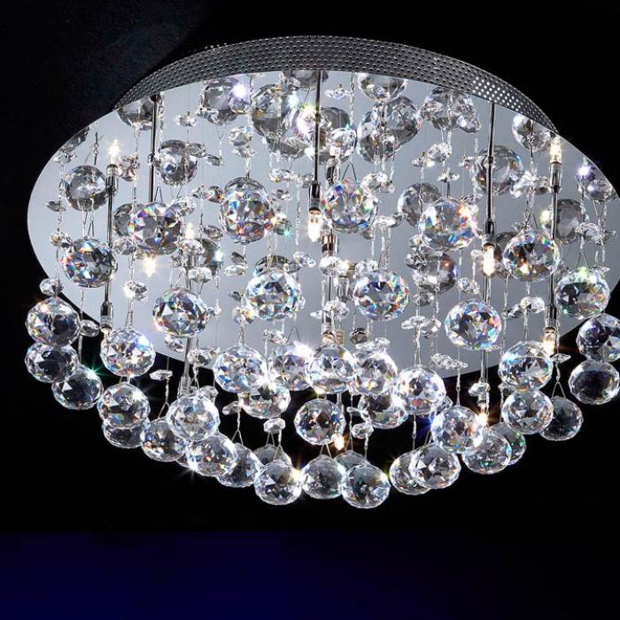 Imagen 1 de Estratos ceiling lamp Round 9L bright chrome/Glass Asfour