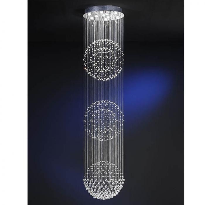 Imagen 1 de Estratos Suspension 3 Balles 10x GU10 LED 7W chromé brillant/Verre Asfour